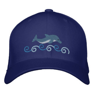 Leaping Dolphin Embroidered Baseball Cap