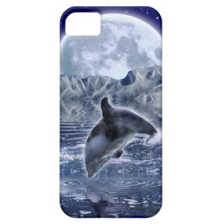 Leaping Dolphin & Moon Marine-life Cell Phone Case
