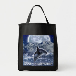 LEAPING DOLPHIN & MOON Wildlife Tote Bag