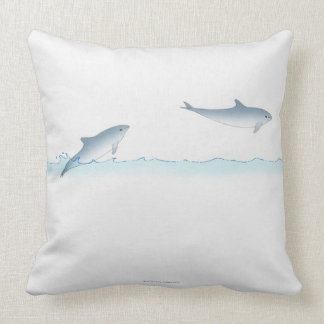 Leaping Dolphin Throw Pillow