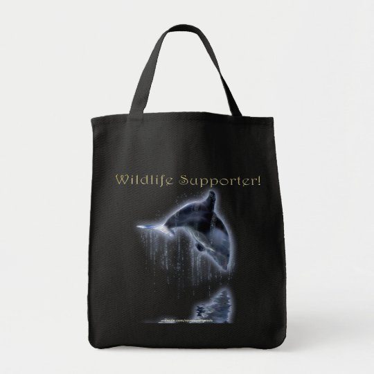 LEAPING DOLPHIN Wildlife Tote Bag