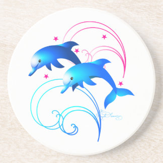 Leaping Dolphins Beverage Coasters