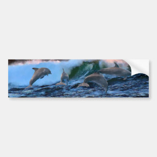 Leaping Dolphins Bumper Sticker