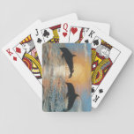 "Leaping Dolphins daytime Playing Cards<br><div class=""desc"">original painting by jboyd,  BoydsEyeView Creations</div>"