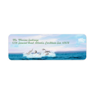 Leaping Dolphins Label