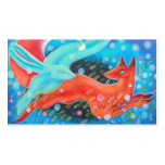 Leaping Fox with Hare. Business Card Template