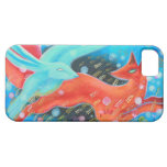 Leaping Fox with Hare. iPhone 5 Case
