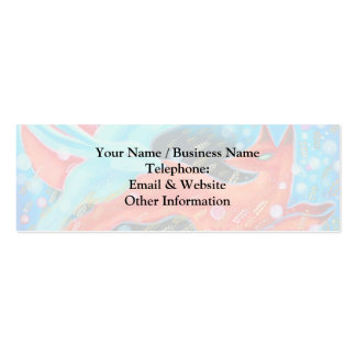 Leaping Fox with Hare. Mini Business Card