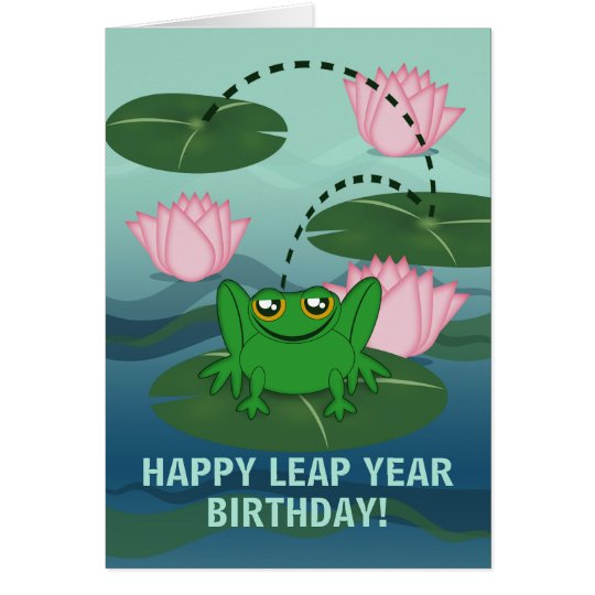 Leaping Frog Leap Year Birthday Card Zazzle