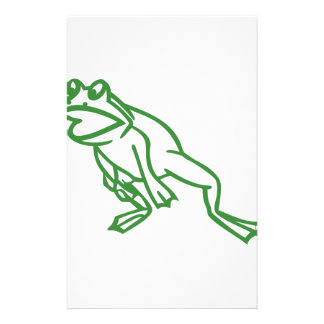 Leaping Frog Outline Stationery