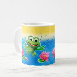 Leaping frog party ceramic mug gift
