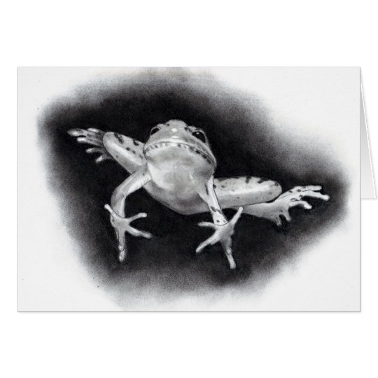 LEAPING FROG: PENCIL REALISM CARD