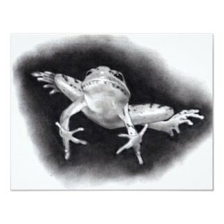 LEAPING FROG: PENCIL REALISM PERSONALIZED INVITATION