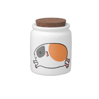 Leaping Guinea-pig ... Tri-Color Candy Jar