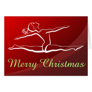 Leaping Gymnast Greeting Card