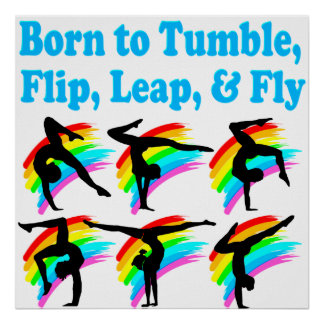 LEAPING GYMNAST POSTER