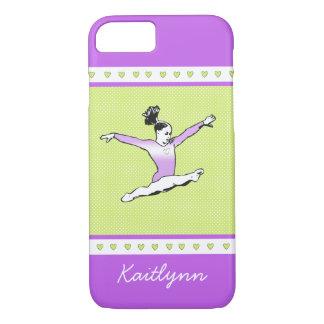 Leaping Gymnast w/ Monogram iPhone 8/7 Case