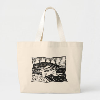Leaping Hare Large Tote Bag