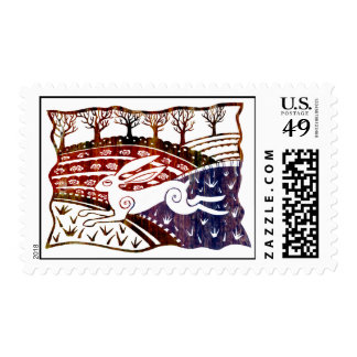 Leaping Hare Postage