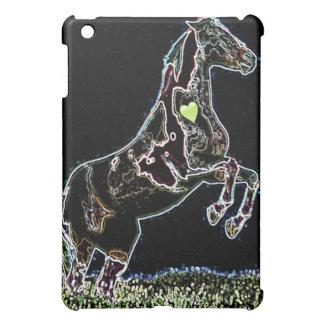 Leaping horse black graphic design ipad mini case