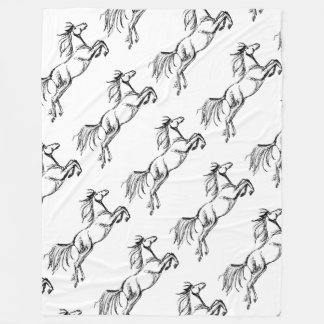 Leaping Horse Fleece Blanket