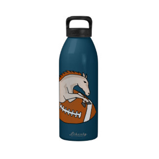 Leaping Horse or Colt on Football Drinking Bottles