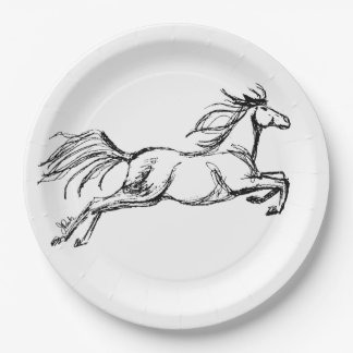 Leaping Horse Paper Plate