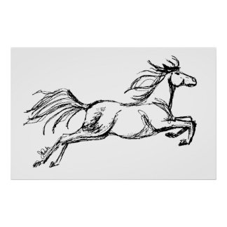 Leaping Horse Poster