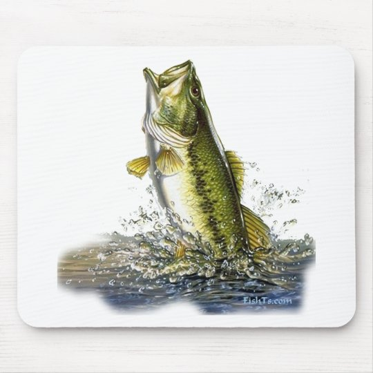 Leaping largemouth bass mouse pad