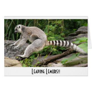 Leaping Lemurs!! Card