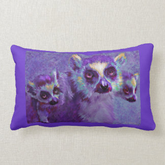 leaping lemurs personalized pillow