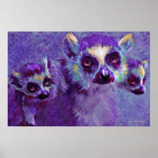 leaping lemurs poster