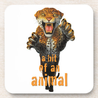 Leaping leopard - a bit of an animal beverage coaster