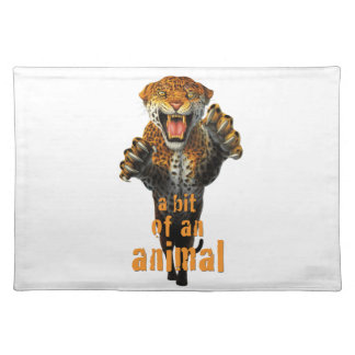 Leaping leopard - a bit of an animal cloth place mat