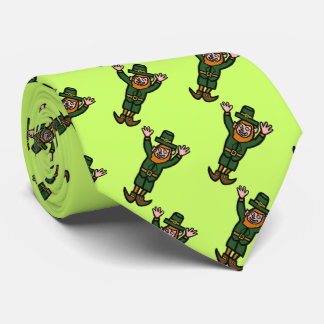 Leaping Leprechaun Saint Patrick's Day Tie