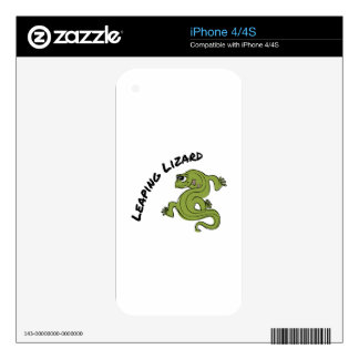 Leaping Lizard Decals For iPhone 4S
