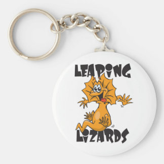leaping lizards keychain