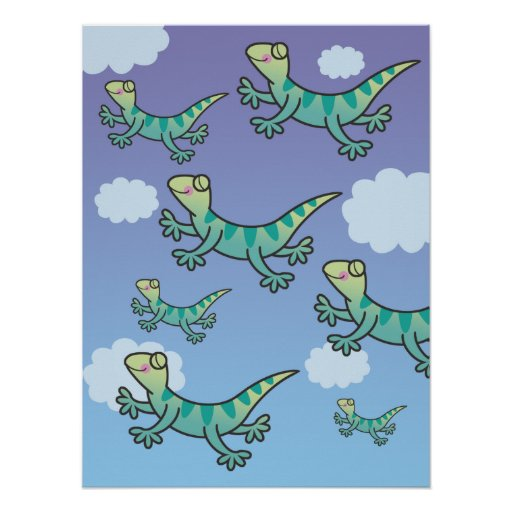 Leaping Lizards Print