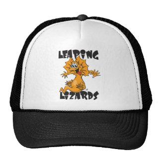 leaping lizards trucker hat