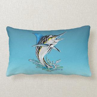 Leaping Marlin Lumbar Pillow
