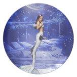 Leaping Mermaid Dinner Plate