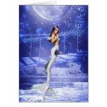 Leaping Mermaid Greeting Cards