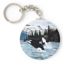 Leaping Orca Keychain