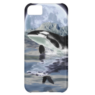 Leaping Orca & Moon Fantasy Art Cell Phone Case
