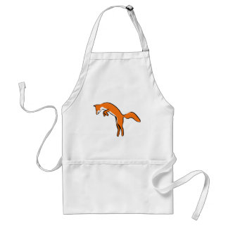 Leaping Red Fox Adult Apron