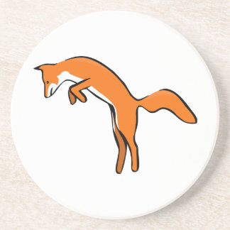 Leaping Red Fox Drink Coasters