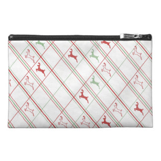 Leaping Reindeer Plaid Travel Accessories Bags