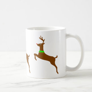 Leaping Rudolph The Red Nose Reindeer Coffee Mug