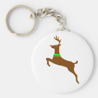 Leaping Rudolph The Red Nose Reindeer Keychain