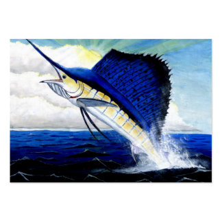 LEAPING SAILFISH Business Card Template